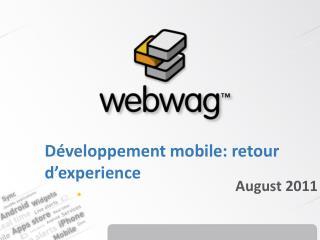 Développement mobile: retour d'experience