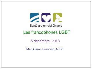 Les  francophones LGBT