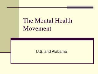 The Mental Health Movement