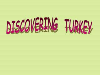 DISCOVERING  TURKEY