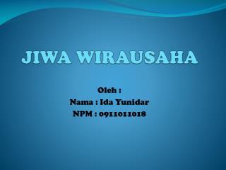 JIWA WIRAUSAHA