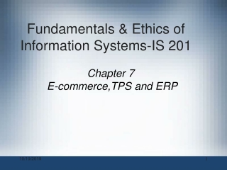 ERP and E-Business- An Overview