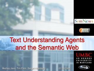 Text Understanding Agents  and the Semantic Web