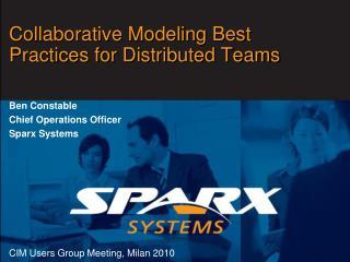 Collaborative Modeling Best Practices for Distributed Teams