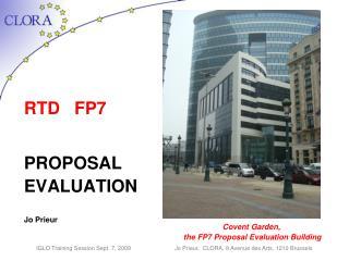 RTD   FP7 PROPOSAL  EVALUATION Jo Prieur