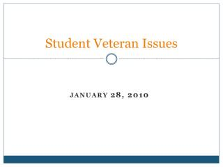 Student Veteran Issues