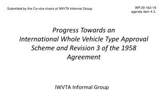 IWVTA Informal Group
