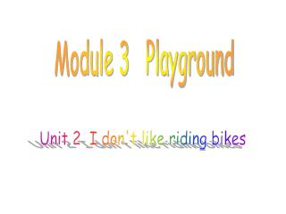 Module 3   Playground