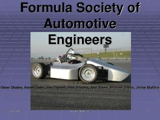Formula Society of Automotive Engineers