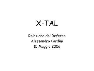 X-TAL