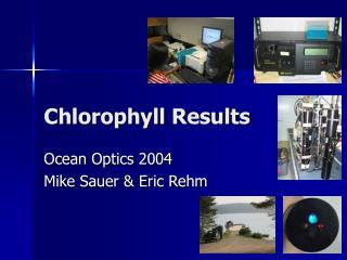 Chlorophyll Results