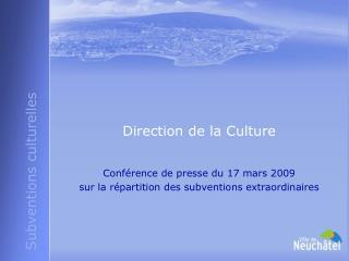 Direction de la Culture