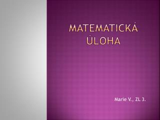 Matematická úloha