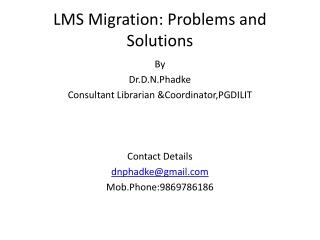 LMS Migration: Problems and Solutions