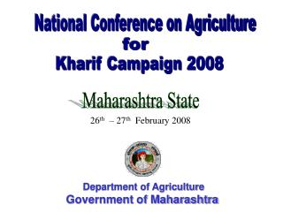 Department of Agriculture Government of Maharashtra