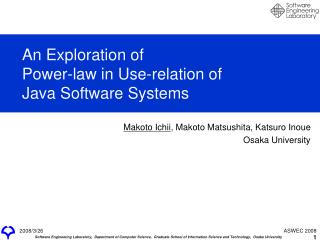 An Exploration of Power-law in Use-relation of Java Software Systems