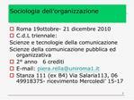 Sociologia dell organizzazione