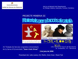 Materials per a l'accés al català
