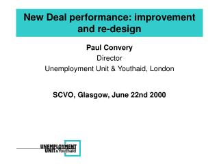 New Deal performance: improvement and re-design