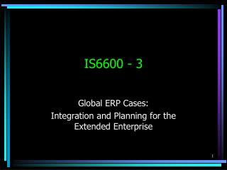 IS6600 - 3