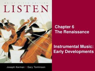 Chapter 6 The Renaissance