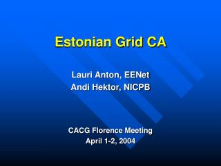 Estonian Grid CA