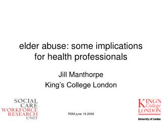 elder abuse: some implications for health professionals