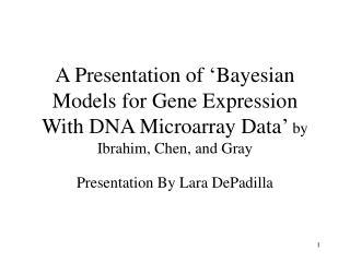 Presentation By Lara DePadilla
