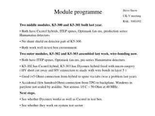 Module programme