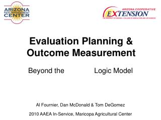 Evaluation Planning & Outcome Measurement