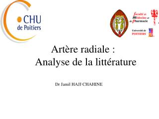 Art re radiale :   Analyse de la litt rature