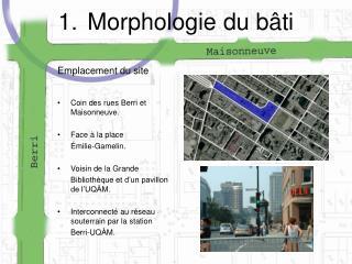 Morphologie du bâti
