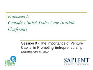 Presentation to Canada-United States Law Institute Conference