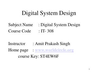 Digital System Design