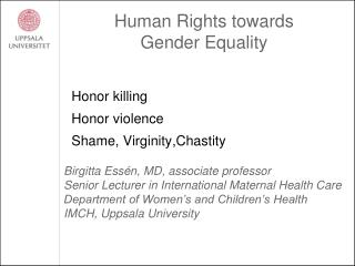 Human Rights towards  Gender Equality