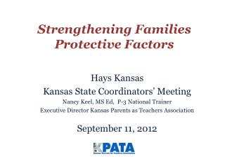 Strengthening Families Protective Factors
