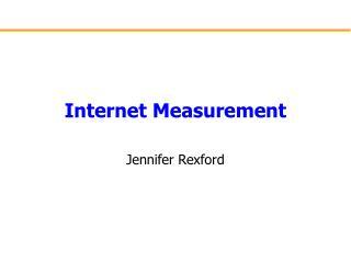 Internet Measurement