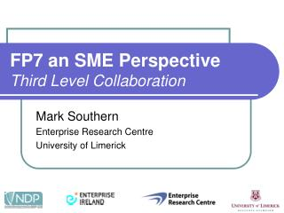 FP7 an SME Perspective Third Level Collaboration