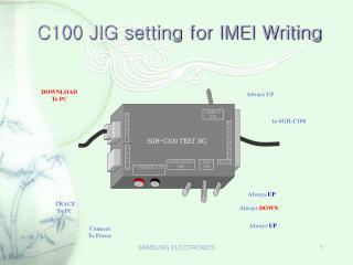 C100 JIG setting for IMEI Writing