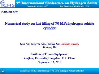 4 th  International Conference on Hydrogen Safety