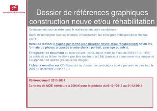 Dossier de références graphiques construction neuve et/ou réhabilitation