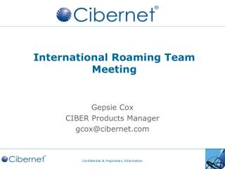 International Roaming Team Meeting