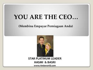 YOU ARE THE CEO�