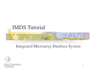 IMDS Tutorial