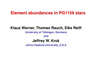 Element abundances in PG1159 stars