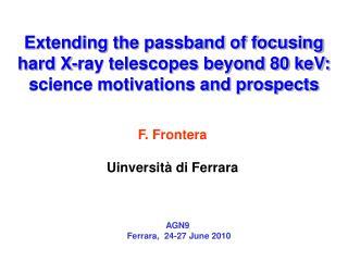 F. Frontera Uinversità di Ferrara
