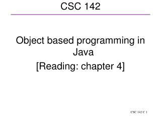 CSC 142