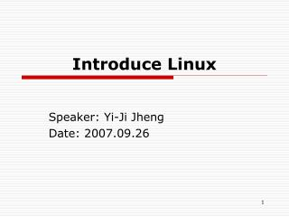 Introduce Linux