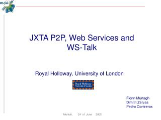 JXTA P2P, Web Services and  WS-Talk