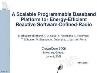 A Scalable Programmable Baseband Platform for Energy-Efficient Reactive Software-Defined-Radio